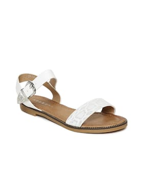 Addons Women White Sandals