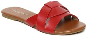 Addons Women Red Sandals