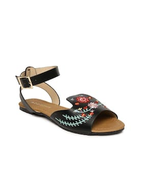 Addons Women Black Sandals
