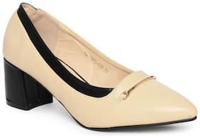 Addons Gold Buckle detail Pumps