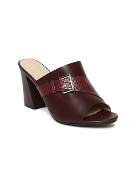 Addons Women Maroon Sandals