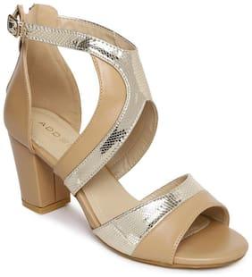 Addons Women Cream Sandals