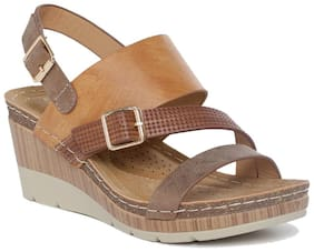 Addons Women Tan Wedges
