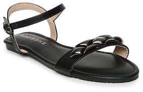 Addons Women Black Sandals