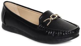 Addons Women Black Loafers - Eu 36