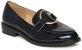Addons Round Metal Ring detail Loafers