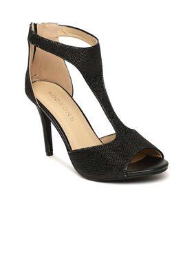 Addons Shimmered Slingback design heel sandal