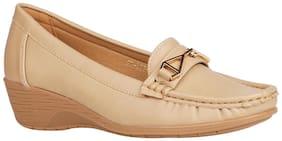 Addons Women Beige Loafers
