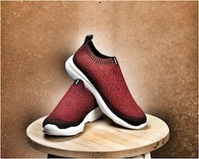 Adiair Maroon casual Shoes