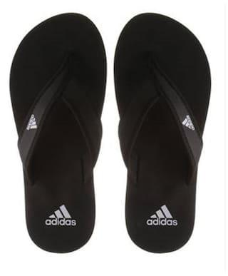 uk availability c0732 bbddd Adidas Men s Adi Rio Black Slippers   Flip Flops