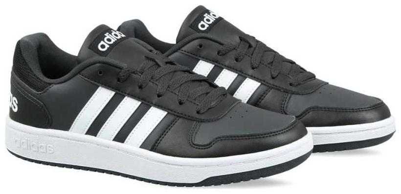 Adidas Men VS HOOPS 2.0 Basketball Shoes   Black