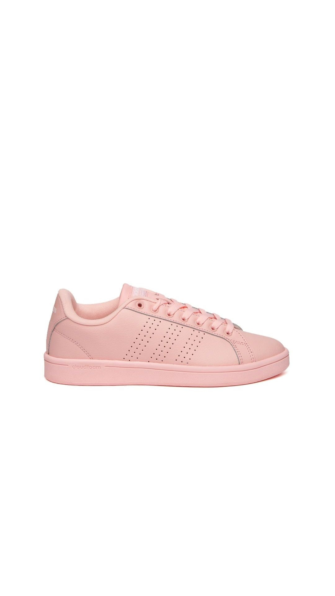 huge discount 1ed59 cd161 ... order adidas neo women peach coloured cloudfoam advantage clean leather  sneakers f8ca5 084d8