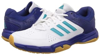 Adidas Men QUICK FORCE 3.1 Badminton/Squash Shoes ( White )