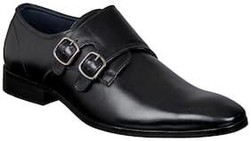Aditi Wasan Genuine Leather Black Monk Shoess