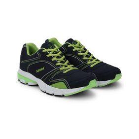 Admiral Mens Black Green Atlanta Running Shoes