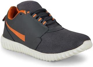 Aerofax and Smartwood Men's Sport Grey Orange Running Shoes