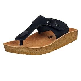 Aerowalk Women Black Slippers