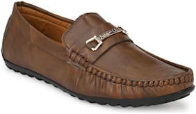 AFREET Men Brown Loafers - JIMM CHOO SYNTHETC 457