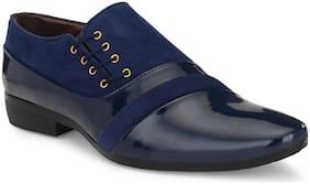 AFREET Men Navy Blue Monk Shoes Formal Shoes - MONK_SHOES