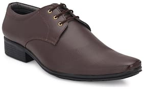 AFREET Men Brown Derby Formal Shoes - OFFICIAL DERBY