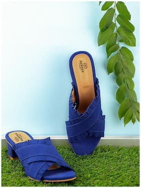 AGAPEE FASHION Women Blue Sandals