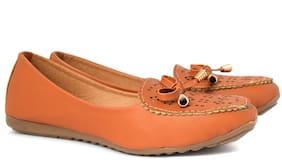 Aishwary Glams Women Tan Stylish Slip on Bellies