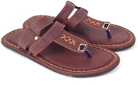Aishwary Glams Men Brown Synthetic  Slippers