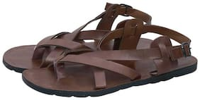 AISHWARY GLAMS Men Brown Sandals