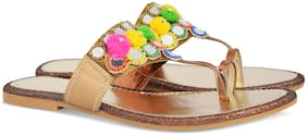 AISHWARY GLAMS Women Multi-Color One Toe Flats