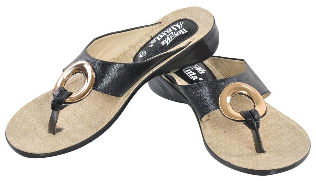 Ajanta Women Gold Sandals
