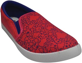 Ajanta Women Red Casual Shoes