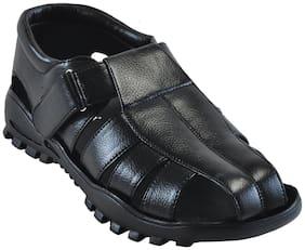 Ajanta Men Black Sandals -