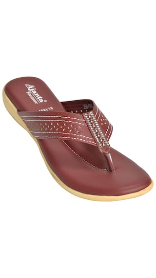 0843f66a4 Buy Ajanta Women s Classy Sandals - Brown Online at Low Prices in ...