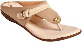 Ajanta Women Beige Sandals