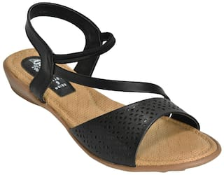 207c720b9 Buy Ajanta Women Black Sandals Online at Low Prices in India ...