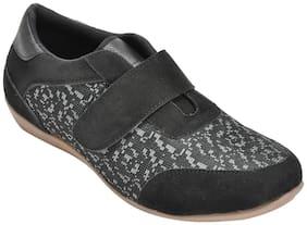 Ajanta Women Black Slip-On Shoes