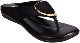 Ajanta Women Black Sandals