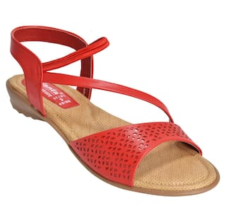 92f6a65a4 Buy Ajanta Women Red Sandals Online at Low Prices in India ...