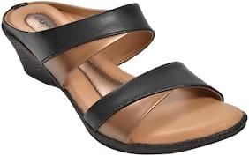Ajanta Women Black Sandals