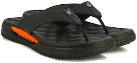 Alberto Torresi Men's leather slippers in black with thick sole