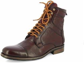 Alberto Torresi Men's Maroon Outdoor Boots