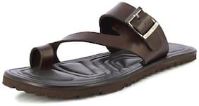 Alberto Torresi Men's Newt Brown Slippers