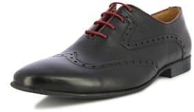 Alberto Torresi Men's Camden Black and Red Formal Shoes