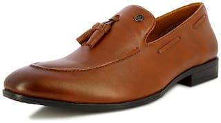 Alberto Torresi Men Tan Slip-On Formal Shoes