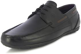Alberto Torresi Moore Men's Black Boat Shoes