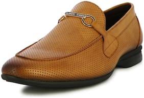 Men Tan Slip-On Formal Shoes ,Pack Of 1 Pair