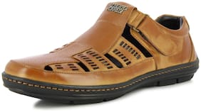 ALBERTO TORRESI Leather UK 6 Sandals & Floaters For Men