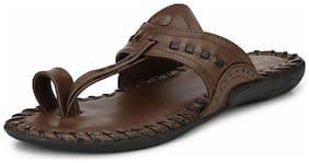 Alberto Torresi MARKORIPO DARK BROWN+BLACK slipper