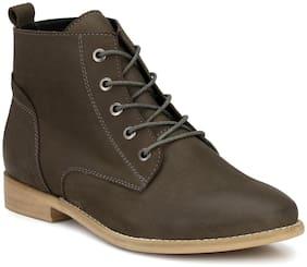 Alberto Torresi Women Grey Ankle length Boots