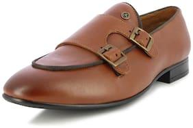 Men Monk Shoes Formal Shoes ( Tan )